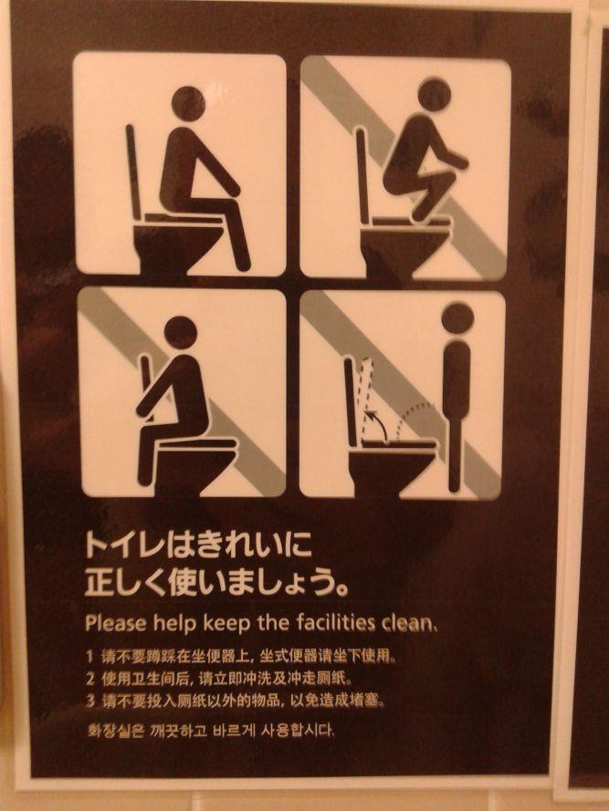 Cosas que NO debes hacer en un WC de estilo occidental