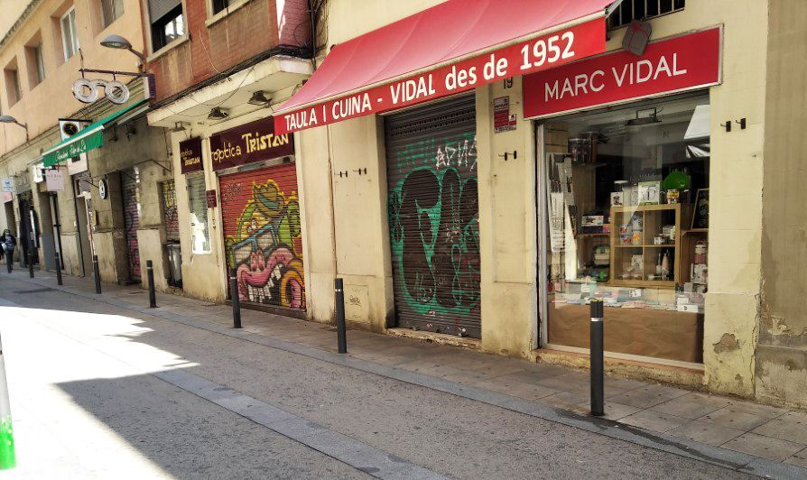 スペインの店のお昼の様子