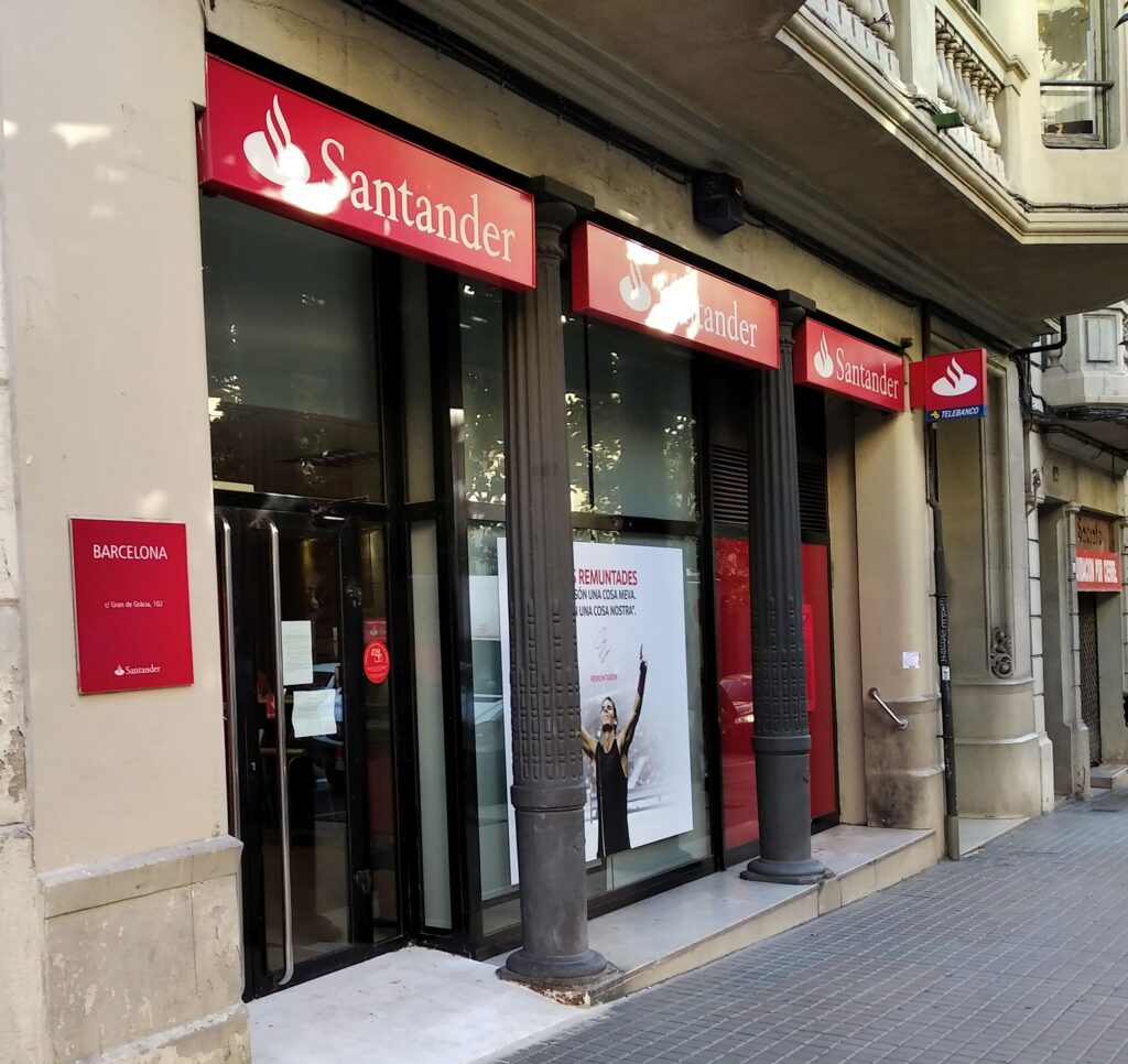 スペインの銀行