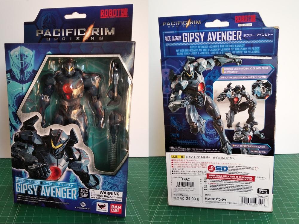 Packaging del Gipsy Avenger de Tamshii Nations