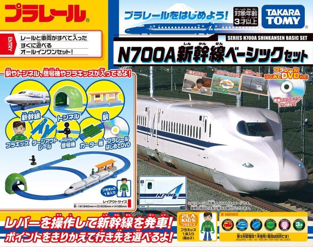 Packaging del Plarail N700A Basic Set