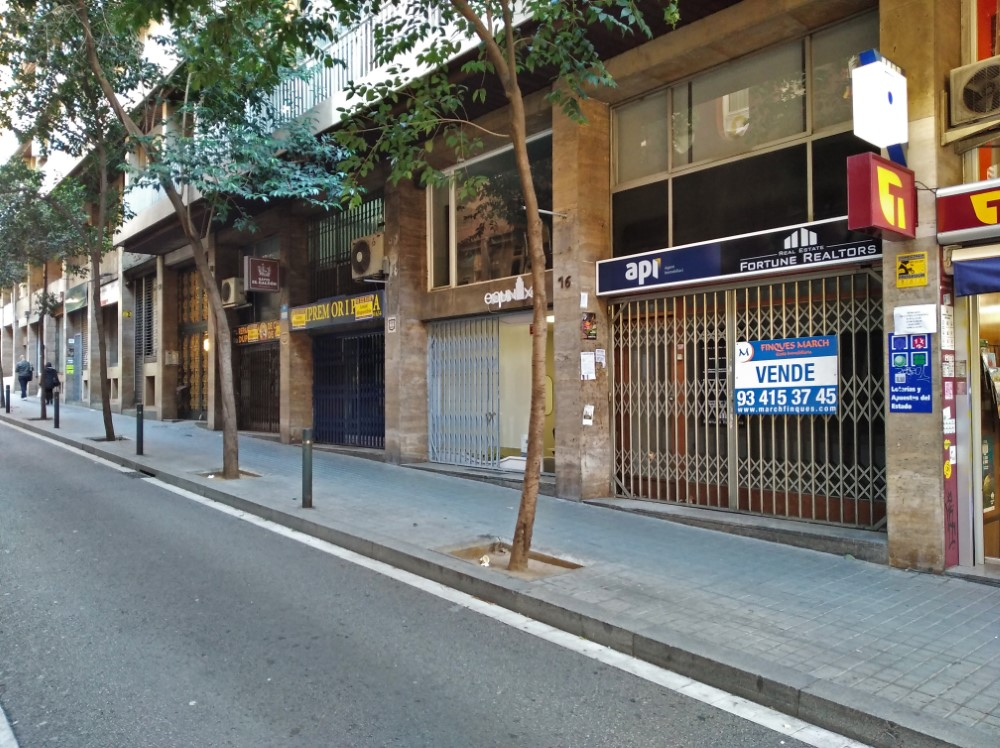 バルセロナの店が閉店している様子