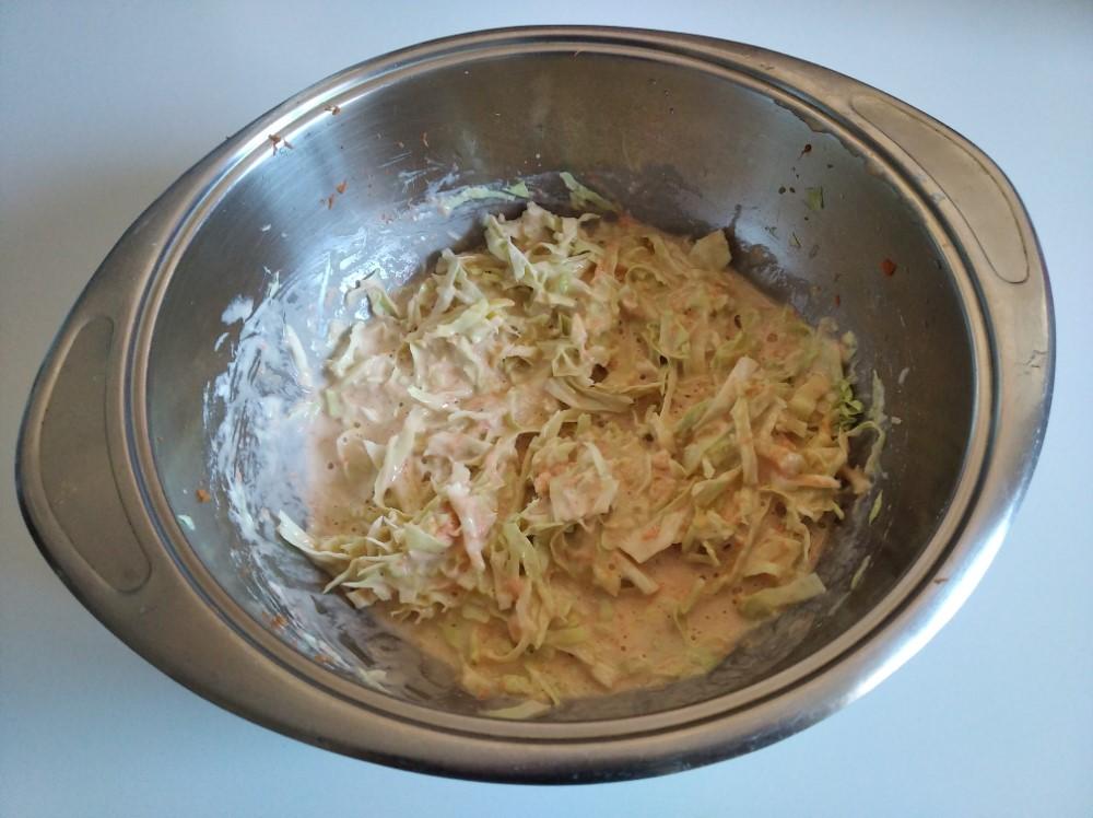 Mezcla de harina, agua y col para Okonomiyaki