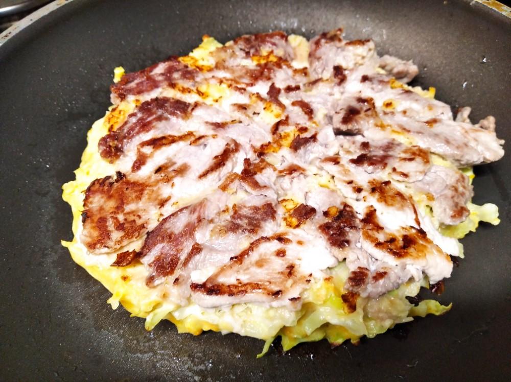 Okonomiyaki casi listo...