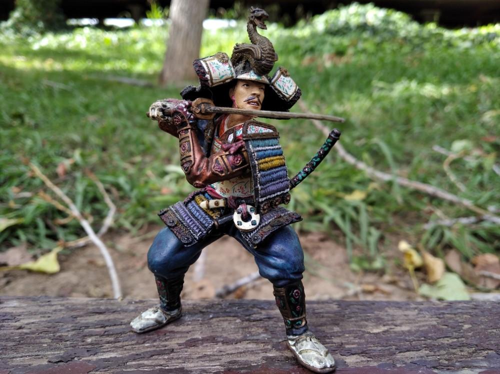 Samurai con Katana en guardia