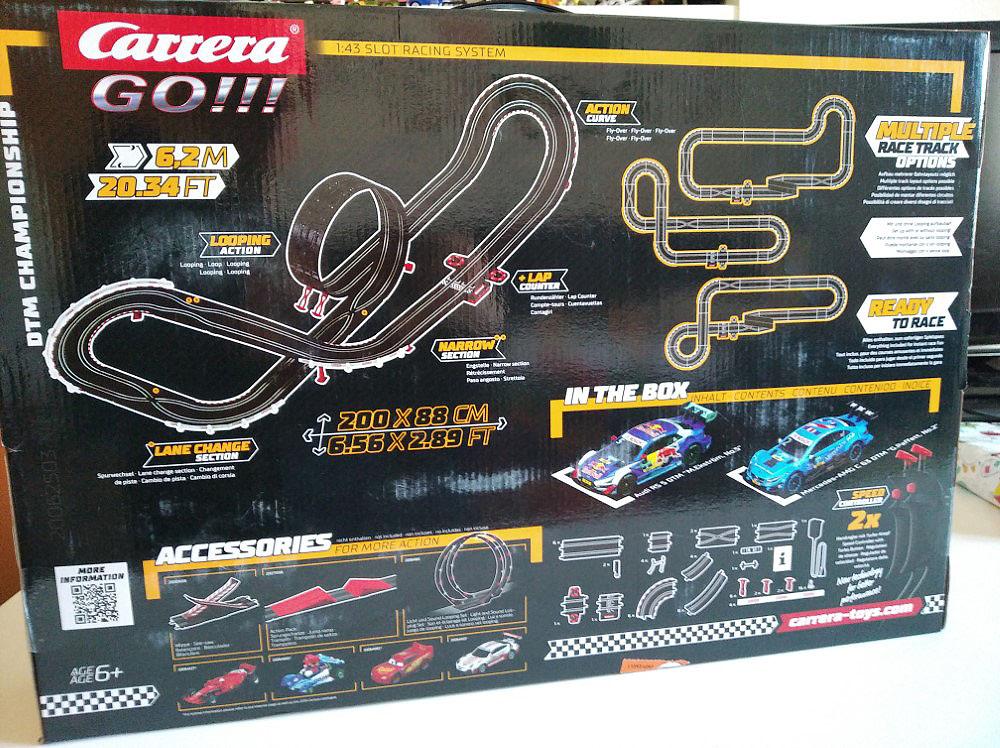 Parte posterior de la caja del circuito Carrera Go! DTM Champions