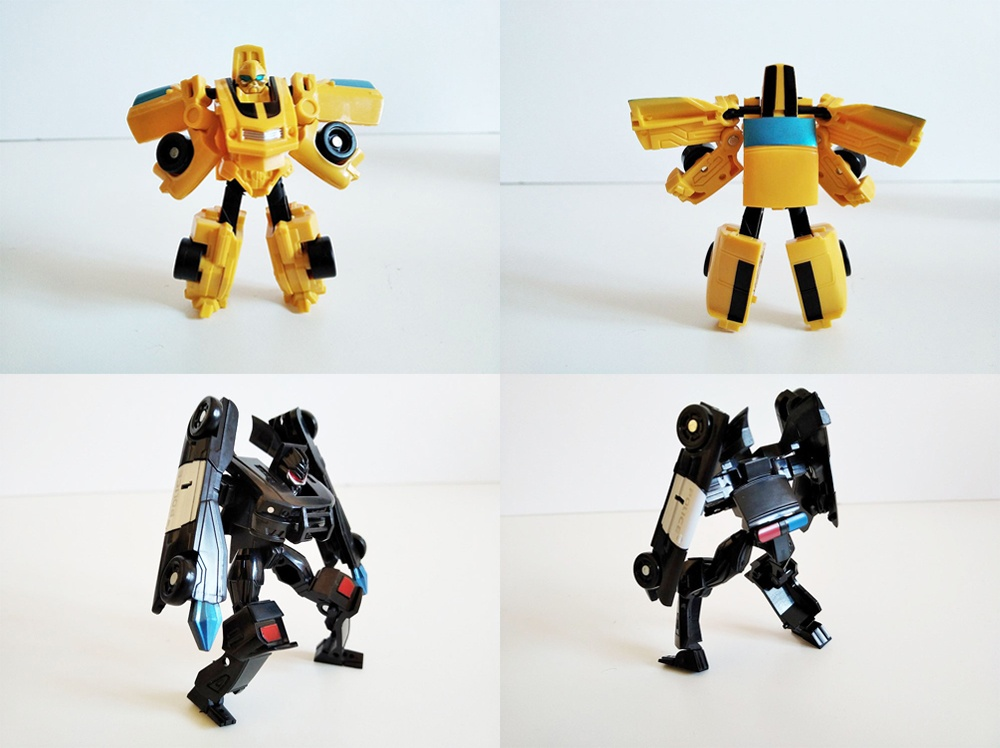 Diferentes posados de los Machines Transformers