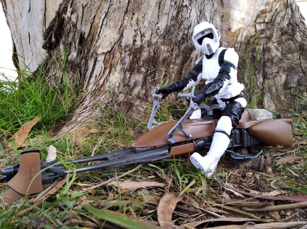 Speeder Bike with Biker Scout Star Wars Titan Hero-Hasbro 5