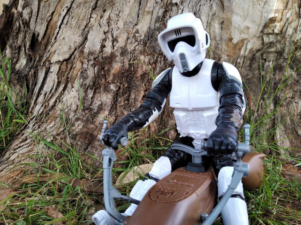 Speeder Bike with Biker Scout Star Wars Titan Hero-Hasbro 7