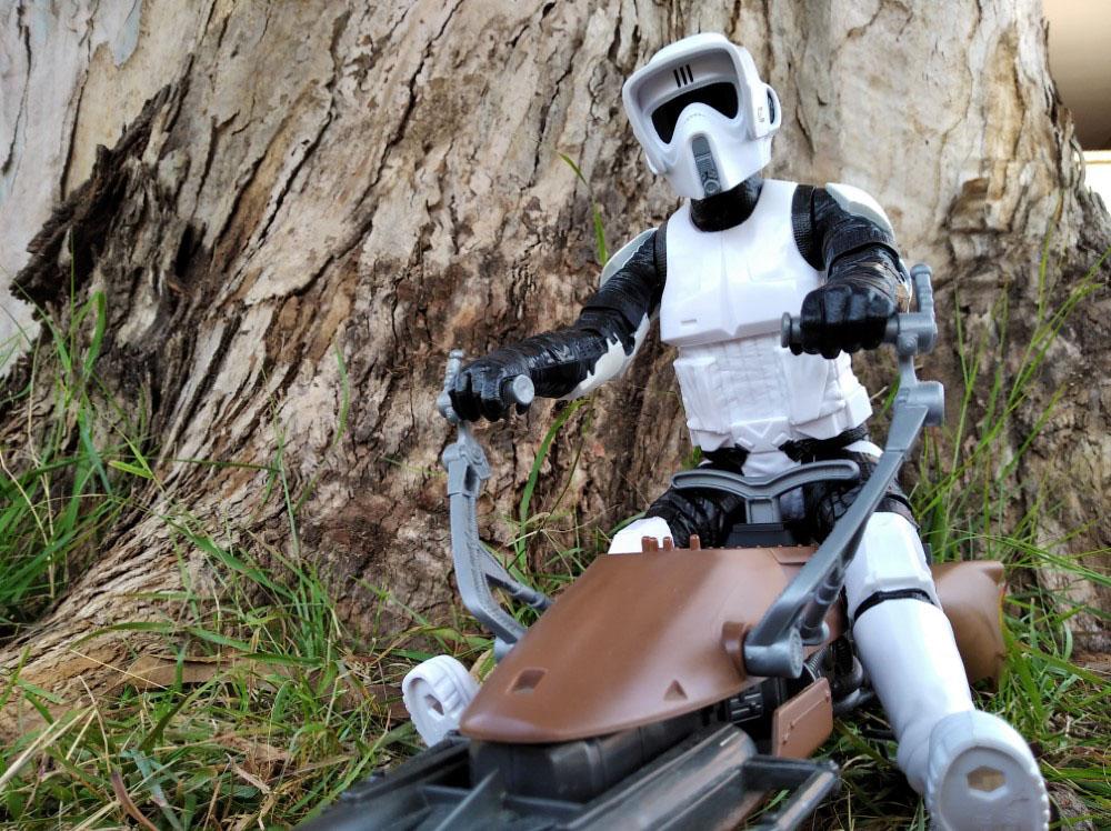 Speeder Bike with Biker Scout Star Wars Titan Hero-Hasbro 8