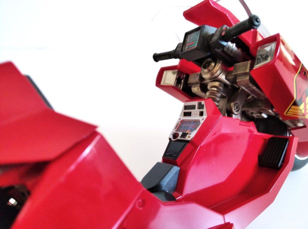 Detalle del salpicadero de la moto de la película Akira