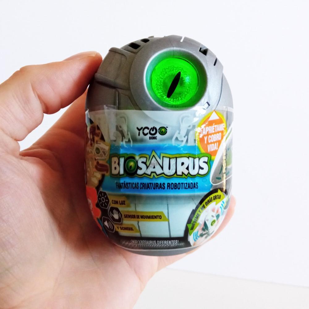 El BioSaurus empaquetado dentro de su huevo