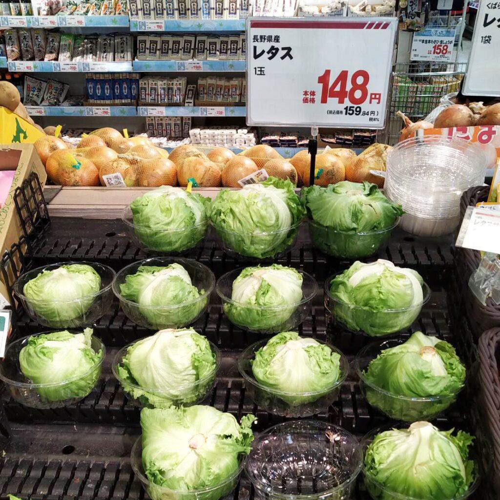 El precio de las lechugas japonesas es bastante asequible en comparación con otras verduras.