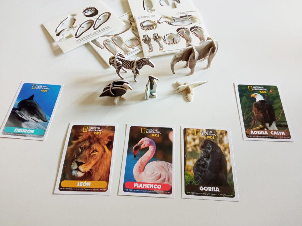 Las cartas con las imágenes de los animales de la colección Wildlife Explorer