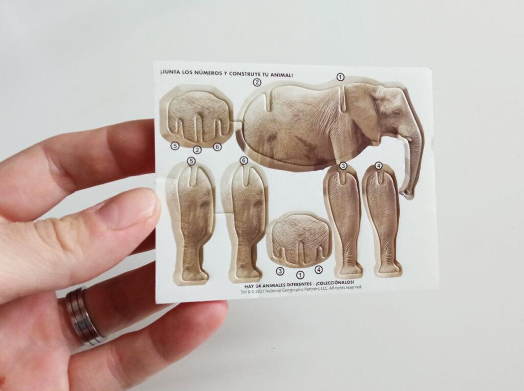 Cartón troquelado con las piezas de los animales de Wildlife Explorer