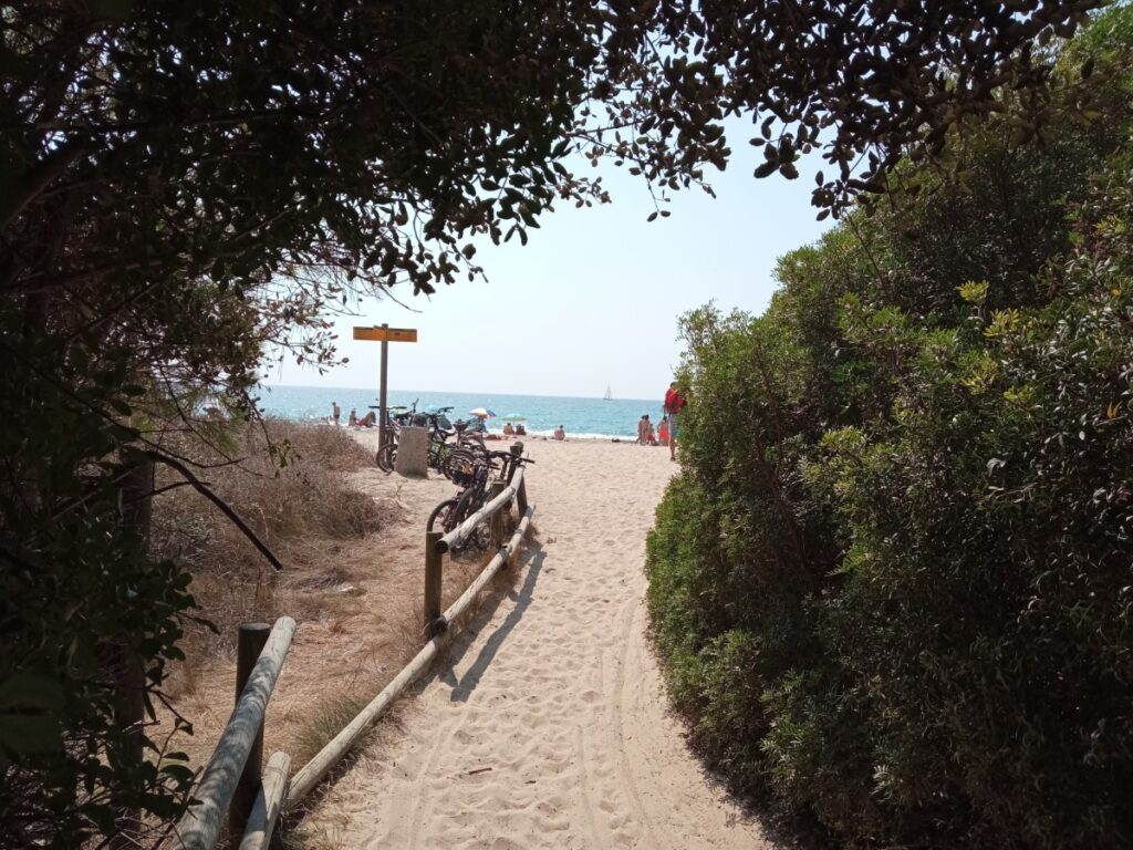 Acceso a la Playa de Tamarit