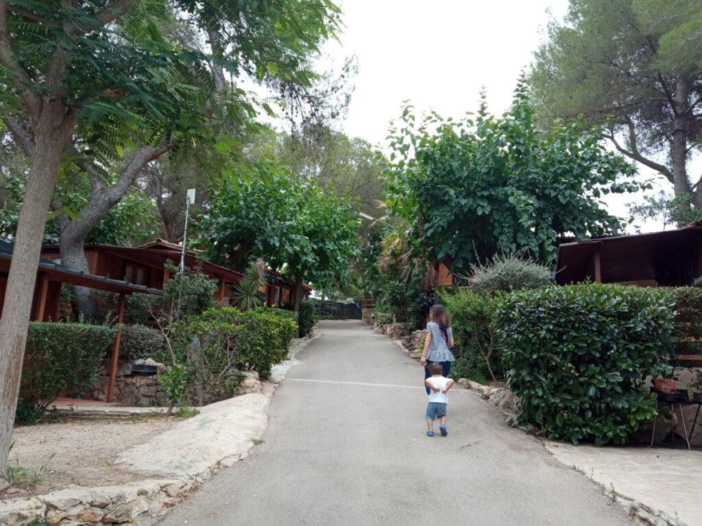 Calle de acceso a los Bulgalow Superiores